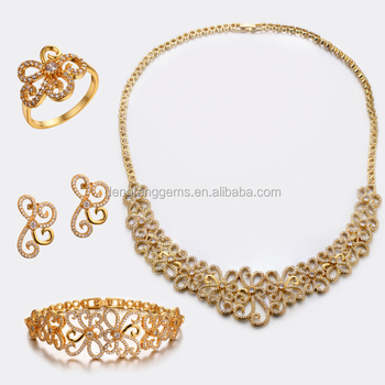 Wholesale Jewelry Set Dubai Gold Jewelry Set Fashion Necklace And Earring Jewelry Sets