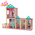 New design attractive girls wooden princess doll house with furniture W06A260