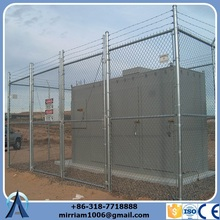 outdoor sport court fence chain link security fence