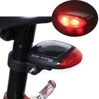 New LED Solar Bicycle Light Solar Power Bike Rear Led Tail Lamp Bicycle Light Red Warning Light