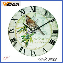 12inch Round Coffee theme design glass wall clock