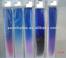 2012 hot sale, cheap price, Animal Print Synthetic clip in hair extension