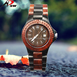 2016 fashion wooden watch case sandal fitness watch men brand