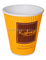 Custom Logo Paper Cup 8 oz suitable for Hot Drinks