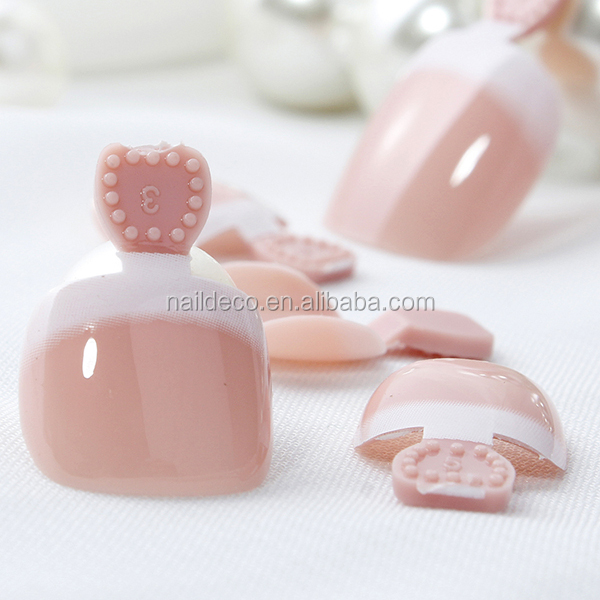Wholesale False Nail Art Designed French, False Nails, Artificial Toe Nail Tip
