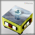 MX160100 fused stained glass jewelry box for home decoration