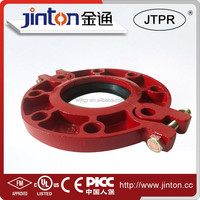 FM UL Approved Ductile iron Grooved Fittings Flange