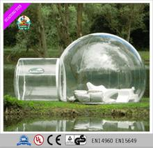 2017 round camping inflatable dome tent movable Inflatable clear lawn Tent
