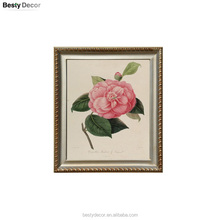 scenery rose flower rustic custom picture frame