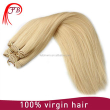 cheap factory price for hair extension uzbekistan virgin human hair weft silk straight hair double drawn