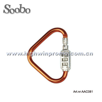 Triangle shape carabiner hook with coded lock