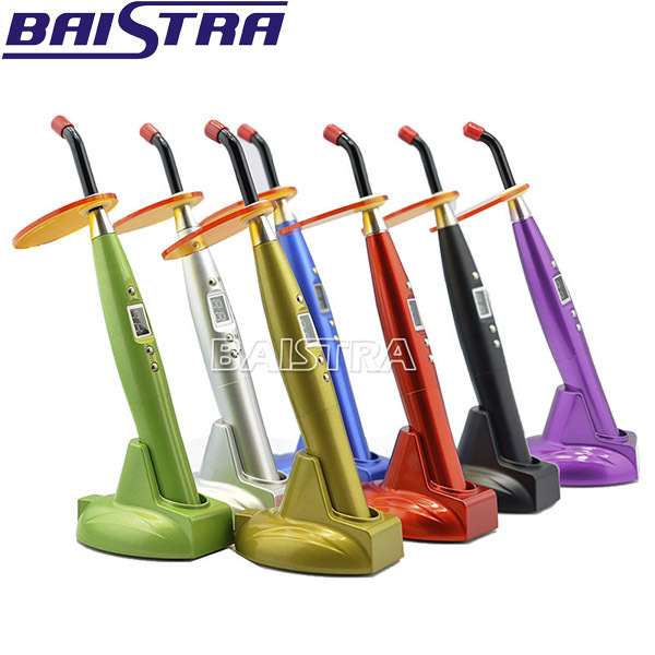 Colored dental LED curing light used for teeth care