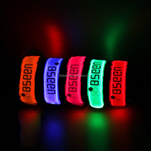 2017 Amazon Hot Sell Nylon Glowing Led Sport Safety Armband for Running