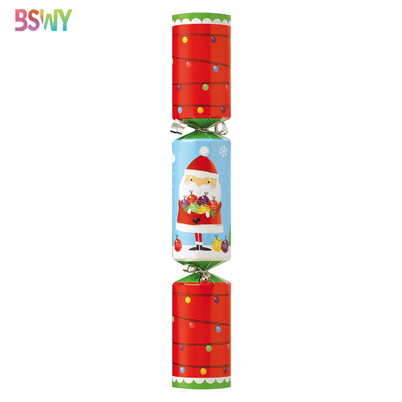 SANTA CLAUS print Red Green Christmas Crackers Poppers 3 boxes/24 total/2 dozen