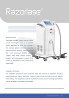 2016 permanent Hair Removal 808nm diode laser hair removal machine
