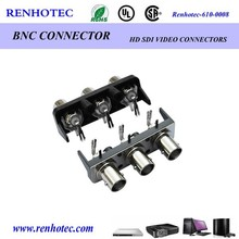 electrical socket terminal edge mount rf connector bnc jack female 90 degree