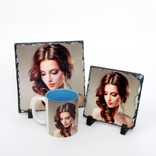 15*15CM Square Shape China Wholesale Cheap White Blank Sublimation Photo Rock with Custom Picture Printed