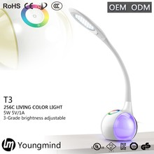rgb color changing lighting bar led touch sensor bedside table lamp