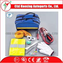 2015 China factory vehicl tool emergency kits with booster cables multi hand tool set