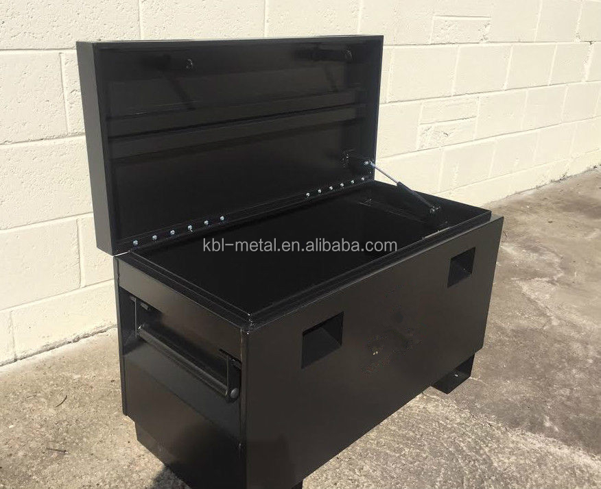 Customized Steel Job Site Tool Box Van forklift Garage Storage Vault Site Tool Box 30'' 36'' 48''