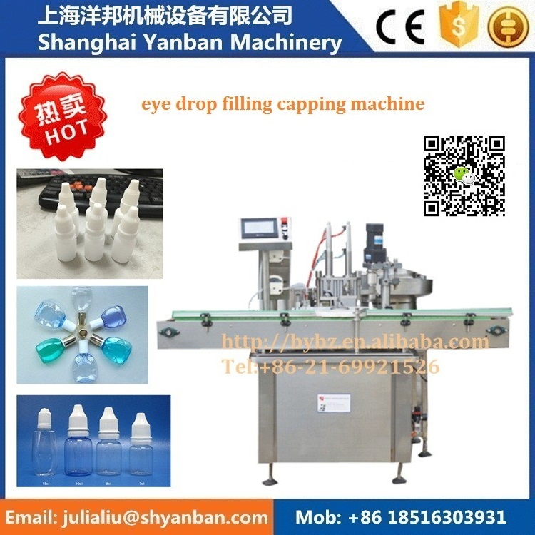 Fully automatic YB-Y2 Shanghai 10ml e-liquid flavor oil bottling filling machine line