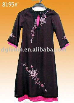 new stylish double layer embroidered kaftan abaya