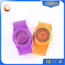 cheap wholesale kids silicone slap watches custom printed slap band wrist watches for promotion children watches