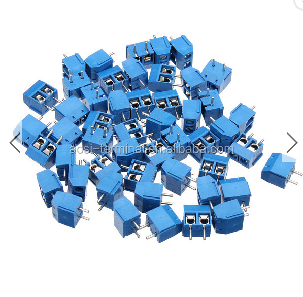 DR66 50pcs 2pins Printed Circuit Board Connector Block Screw Terminals