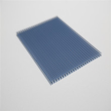 10mm twin wall uv polycarbonate hollow sheets for plastic sunroom