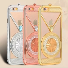 Completely New Design Luxury Diamond Lover Phone Case for iphone 5 6 6 plus rhinestone Metal Bumper