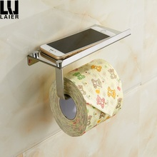 Wall Mounted Bathroom Toilet Paper Phone Holder Rack Tissue Roll Stand Shelf