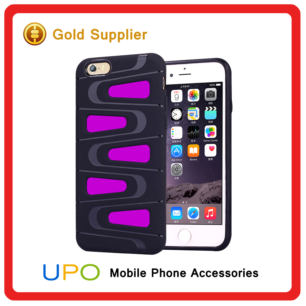 [UPO] Smart Shockproof Hybrid Amror Plastic TPU Combo Phone Case Cover for iPhone 6 6 plus