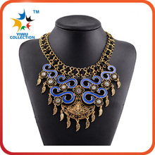 fashionable drop shape acrylic bead necklace jewelry set