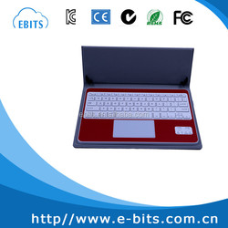 Bluetooth keyboard leather case for 9.7 inch tablet PC, for Ipad air