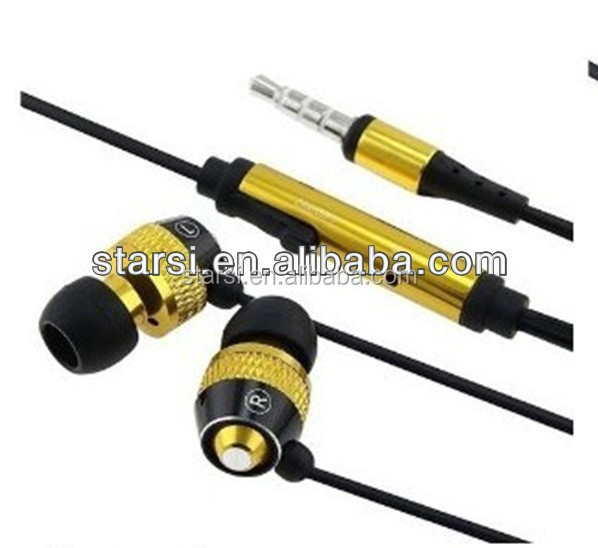 D9 High Quality Super Bass Metal Earphone With Micophone For Iphone