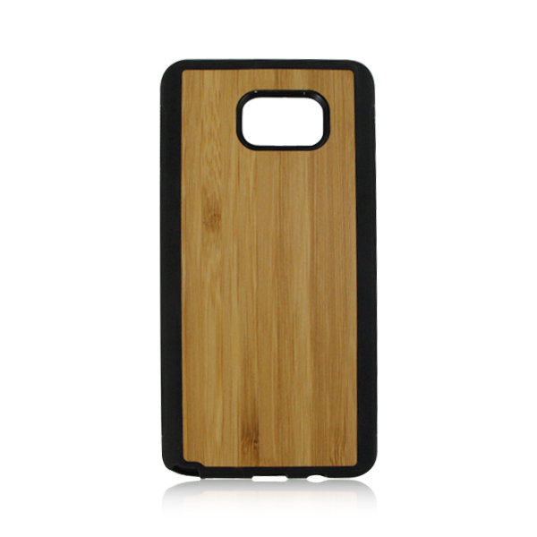 PC + TPU bottom wood phone shell natural wooden case protective cheap phone case for Samsung note 5