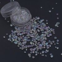 Clear iridescent glass beads for concrete usage