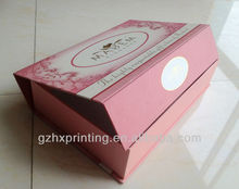 a4 size paper packaging box with lid template