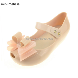 KS30499A New style bowknot kids girls mellissa jelly shoes princess minnie sandals 2016