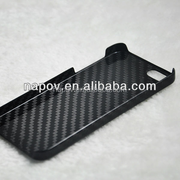 NAPOV high quality black carbon fiber case for iphone 5 5s
