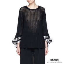 Black Chunky Special Sweater Design Knitwear for women