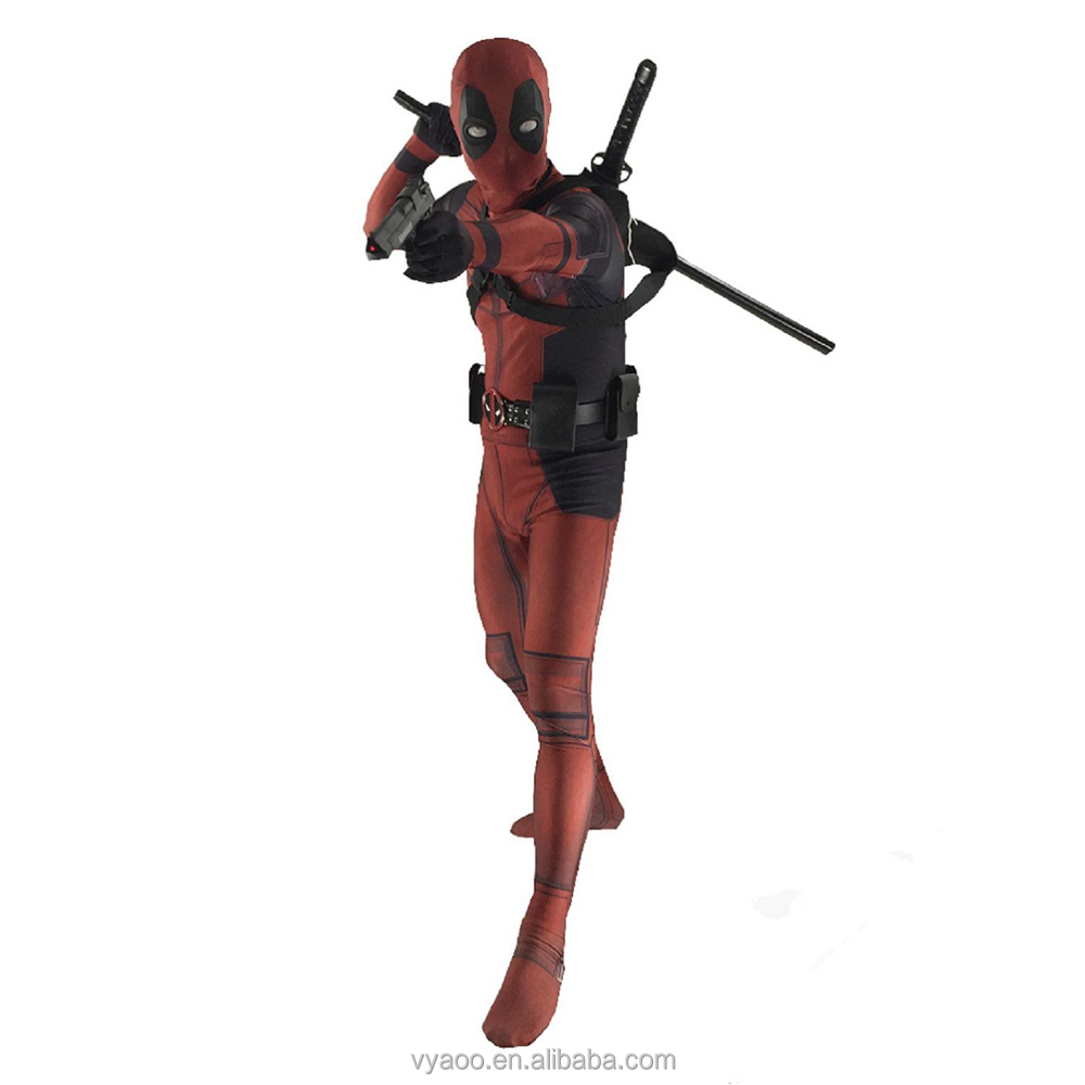 hot movie character Halloween CosPlay deadpool costume for adult and children