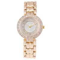 Hip Hop diamond ladies bling bling watches stainless steel wrist watch