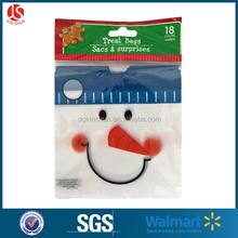 Wholesale Promotional LDPE PLASTIC Snowman Candy Drawstring Pouch Bag With Logo