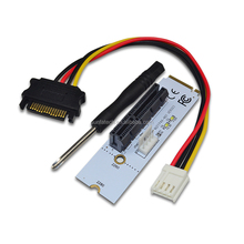NGFF M.2 to PCI-E 4X Riser Card M2 Key M to PCIe X4 Adapter with LED Voltage indicator m.2 riser for Bitcoin Miner Mining