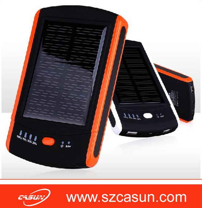 2016 high quality 6000mah mobile solar charger power bank