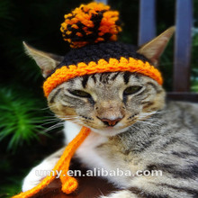 Cat Hat Costume The Halloween Pom Pom Beanie For Cats And Small Dogs
