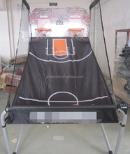 1'' Portable Basketball Frame For Game Backboard and ball return Net and rubber basketball