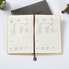 A5 kraft cute custom PU leather cover planner with elastic band