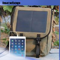 solar power charger, flexible solar panel for hiking men solar backpack